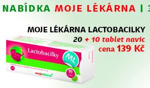 Moje lékárna - Lactobacilky 20 + 10 tablet Zdarma