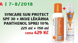 SynCare SUN PROTECT SPF 30 225 ml + NAVÍC: Moje lékárna Panthenol 10% 150 ml