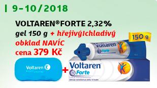 Voltaren Forte 2.32% gel 150g + NAVÍC: hřejivý / chladivý gelový obklad
