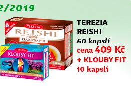 TEREZIA 100% BIO Reishi 60 kapslí + NAVÍC: Klouby fit 10 kapslí