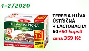 Terezia Hlíva ústřičná + lactobacily 60+60 kapslí zdarma