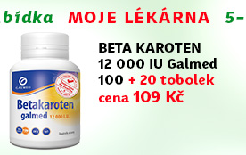Beta karoten 12 000 IU Galmed 100 + 20 tobolek ZDARMA