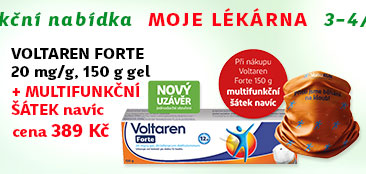 Voltaren Forte 20mg/g gel 150g + NAVÍC: Multifunkční šátek