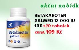 Betakaroten 12 000 IU Galmed 100 + 20 tobolek ZDARMA