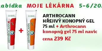 Arthrocann hřejivý gel 75ml + NAVÍC: Arthrocann konopný gel 75ml