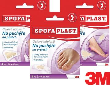 SPOFAPLAST®: Gelové náplasti na puchýře